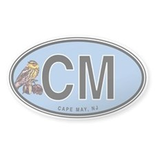 Cape May Warbler Euro Oval Decal
