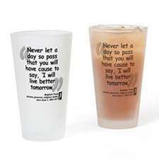 Young Live Quote Drinking Glass