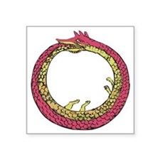 "Ouroboros - Eternal Return Square Sticker 3"" x 3"""