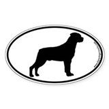 Rottweiler SILHOUETTE Oval Decal