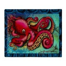 Octopus mousepad Throw Blanket