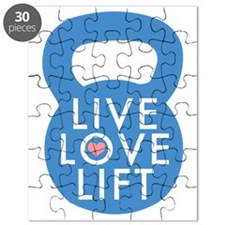 Blue Live Love Lift Puzzle