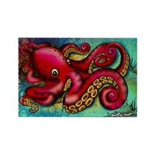 Octopus framed print Rectangle Magnet