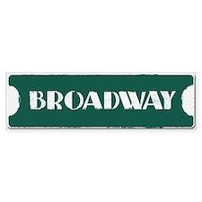 Broadway Street Sign Bumper Sticker