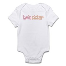 Twin Sister Infant Creeper 2-white