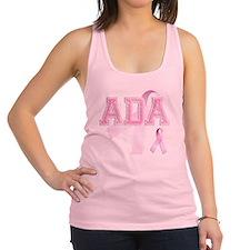 ADA initials, Pink Ribbon, Racerback Tank Top