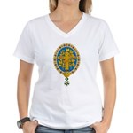 French Coat of Arms Women's V-Neck T-Shirt