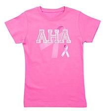 AHA initials, Pink Ribbon, Girl's Tee