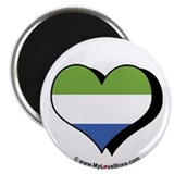 I Love Sierra Leone 2.25&quot; Magnet (100 pack)