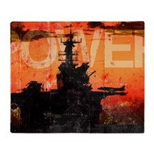 Military Grunge Poster: Power. The s Throw Blanket