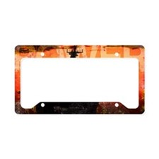 Military Grunge Poster: Power License Plate Holder