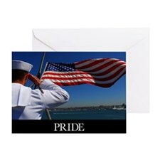 Military Poster: Pride, A sailor sal Greeting Card