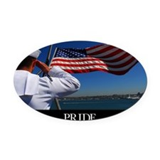 Military Poster: Pride, A sailor s Oval Car Magnet