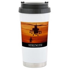 Military Poster: Four AH-64 Apa Ceramic Travel Mug