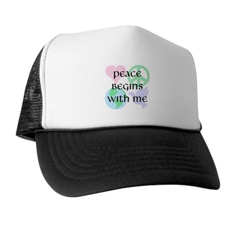 Peace Begins With Me Trucker Hat