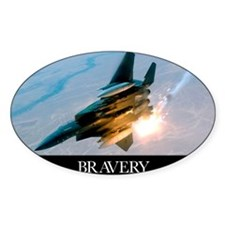 Military Poster: Brave men stand ta Decal