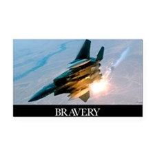 Military Poster: Brave men st Rectangle Car Magnet
