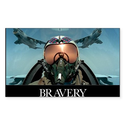 Military Poster: Brave men sta Sticker (Rectangle)