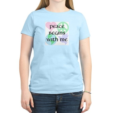 Peace Begins With Me Women's Light T-Shirt