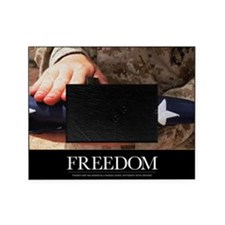 Military Motivational Poster: Freedo Picture Frame