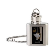 Military Poster: A U.S. Naval Acade Flask Necklace