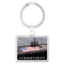 Military Poster: Personnel part Landscape Keychain