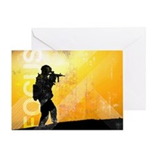 US Army Grunge Poster: Focus. U.S. A Greeting Card