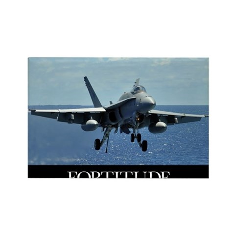 Motivational Poster: An F/A-18C H Rectangle Magnet