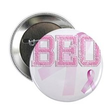 "BEO initials, Pink Ribbon, 2.25"" Button"