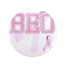 "BEO initials, Pink Ribbon, 3.5"" Button"