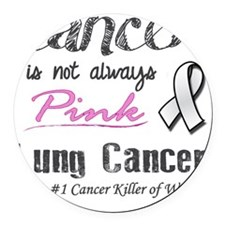 Cancer is Not Always Pink! Round Car Magnet