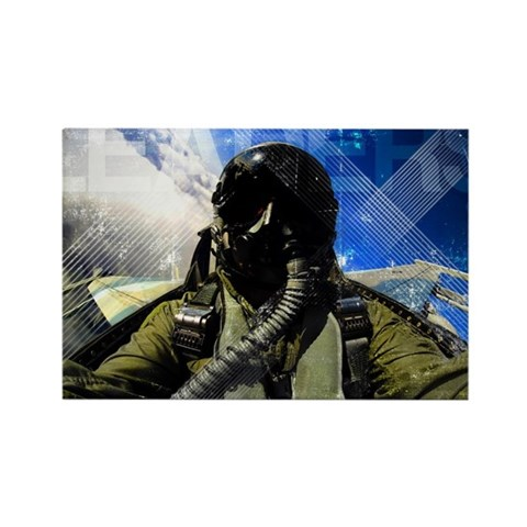 Air Force Grunge Poster: Leaders. Rectangle Magnet