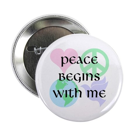 Peace Begins With Me 2.25 Inch Buttons ~ Pack of 10