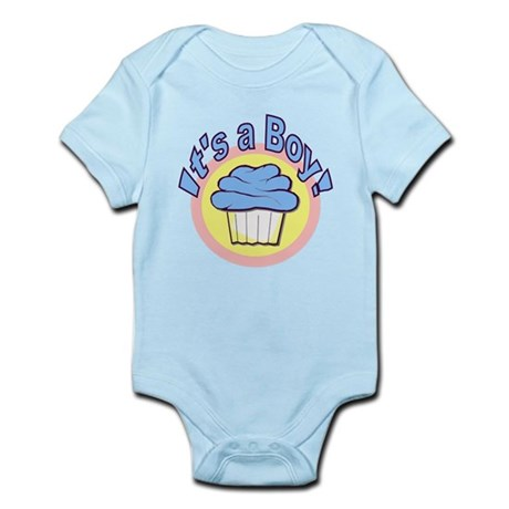It's a Boy Cupcake Infant Bodysuit