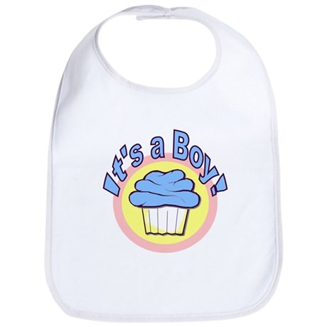 It's a Boy Cupcake Bib