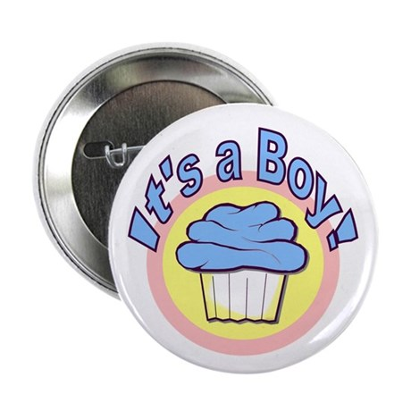 "It's a Boy Cupcake 2.25"" Button (100 pack)"