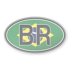 Brazil Euro Oval Decal