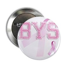 "BYS initials, Pink Ribbon, 2.25"" Button"