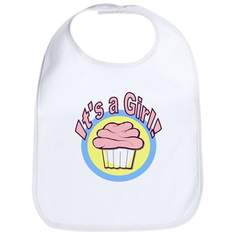 It's a Girl Cupcake Bib