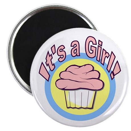 "It's a Girl Cupcake 2.25"" Magnet (10 pack)"