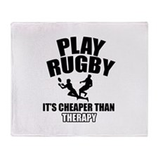 rugby cheaper than therapy Throw Blanket