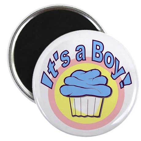 "It's a Boy Cupcake 2.25"" Magnet (100 pack)"