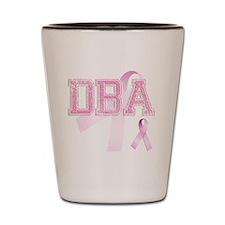 DBA initials, Pink Ribbon, Shot Glass