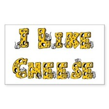 I like Cheese Rectangle Decal