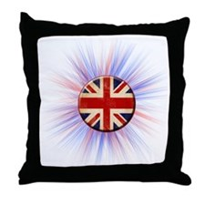 British Flag Throw Pillow