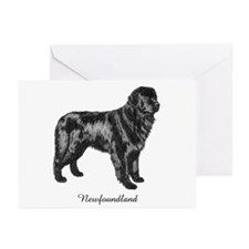 Standing Newf Greeting Cards (Pk of 10)