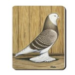 Brown Check Bald West Mousepad