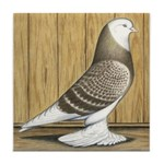 Brown Check Bald West Tile Coaster