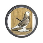 Brown Check Bald West Wall Clock