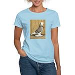Brown Check Bald West Women's Light T-Shirt